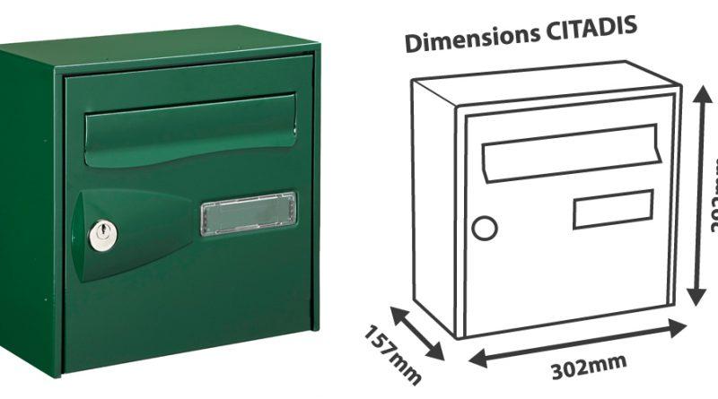 boite aux lettres 2 portes pas cher young planneur. Black Bedroom Furniture Sets. Home Design Ideas