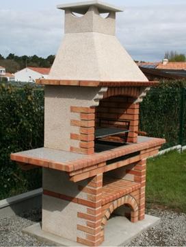 Barbecue en brique refractaire