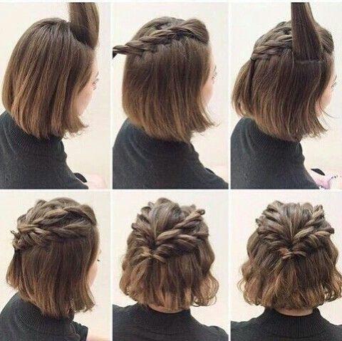 Coiffure tresse cheveux court