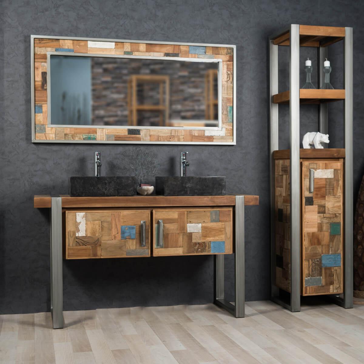 Meuble salle de bain style industriel