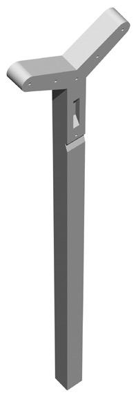 Poteau a linge en beton