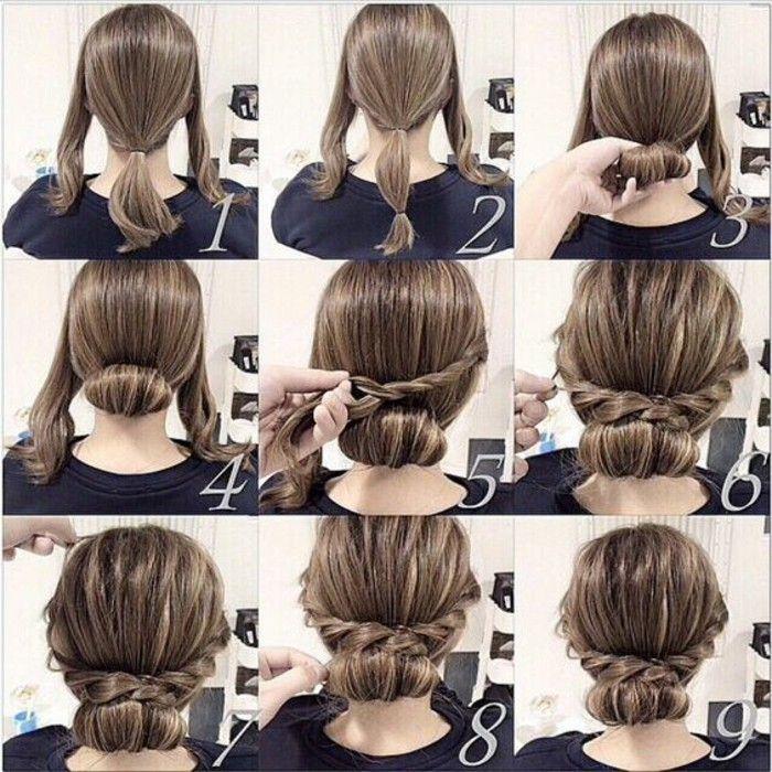 Coiffure simple et rapide cheveux mi long