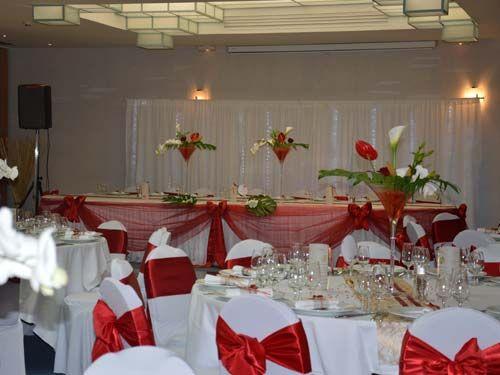Deco mariage rouge et blanc