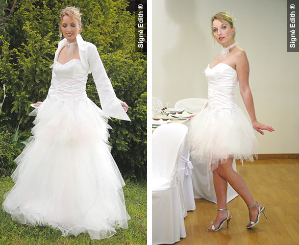 Robe de mariée modulable