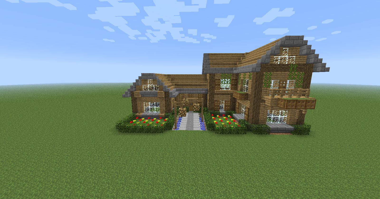 Maison minecraft en bois