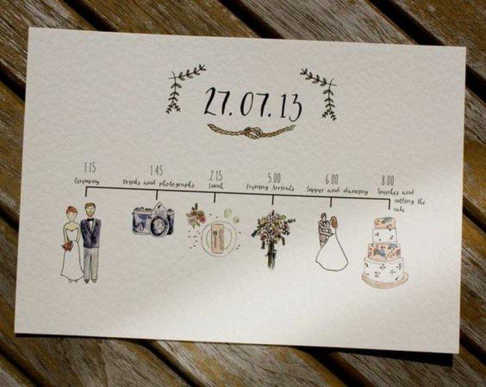 Faire part mariage fait main