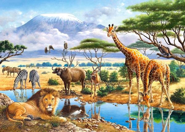 Liste des animaux de la savane