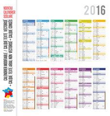 Numero semaine calendrier 2016