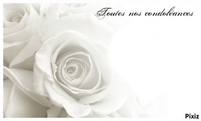 Images sincères condoléances