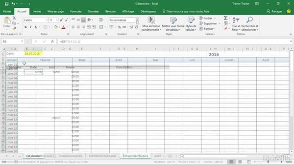 Créer un planning semaine