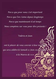 Invitation mariage online