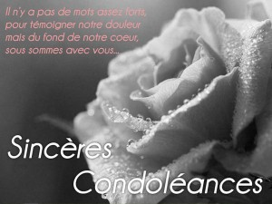 Deces texte condoleance