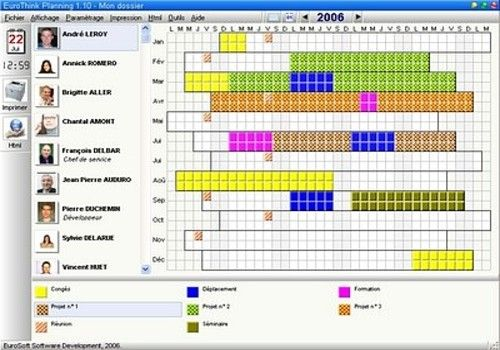 Planning professionnel excel