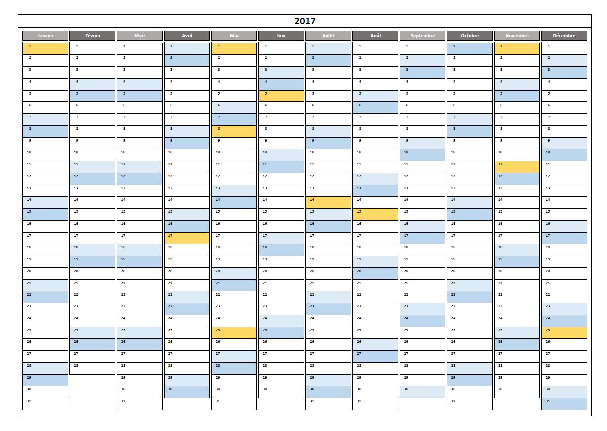 Planning annuel 2016