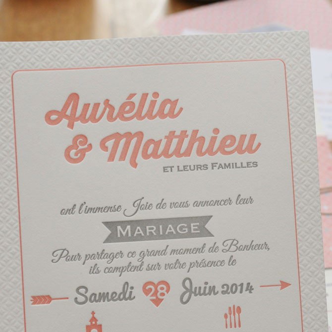 Faire part mariage sans photo