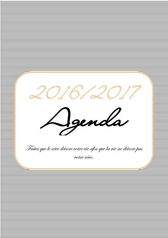 Agenda à imprimer 2016