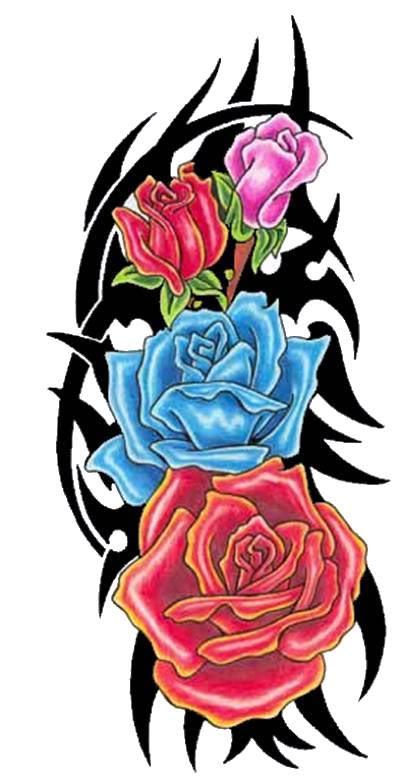 Tatouage tribal rose