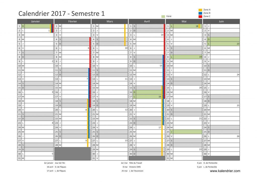 calendrier remplissable