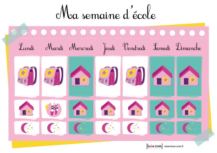 Planning semaine pour enfant