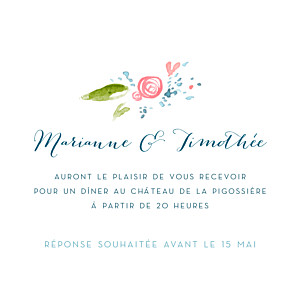 Invitation pour un mariage