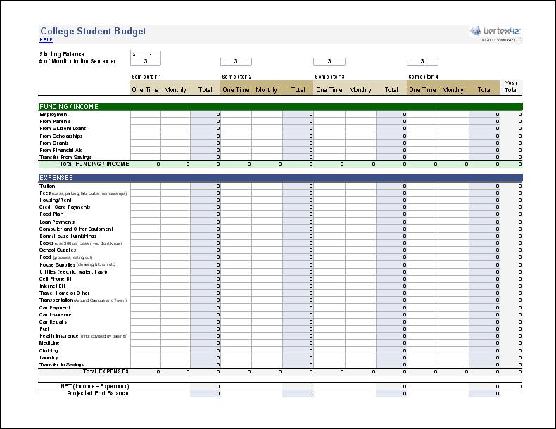 Planning xls gratuit
