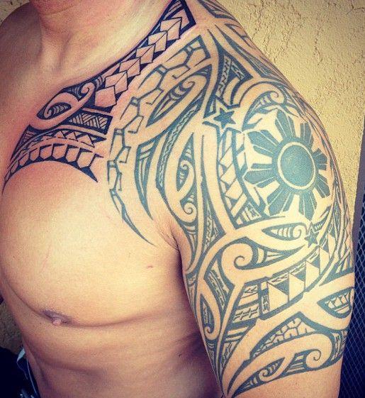 Tatouage sur epaule homme