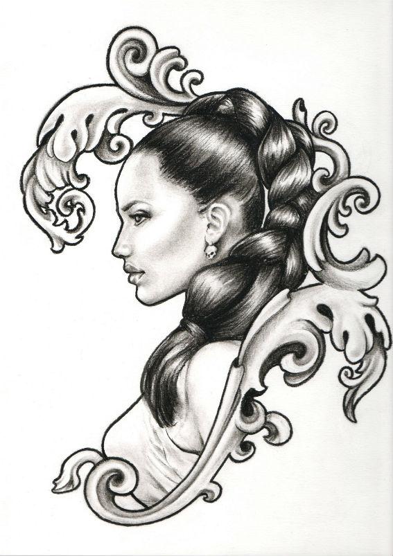 Tatouage motif femme