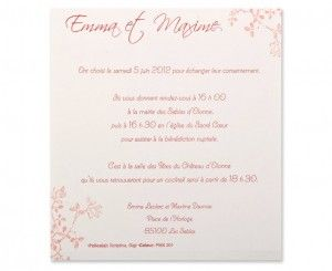 Invitation Mariage Francais Young Planneur
