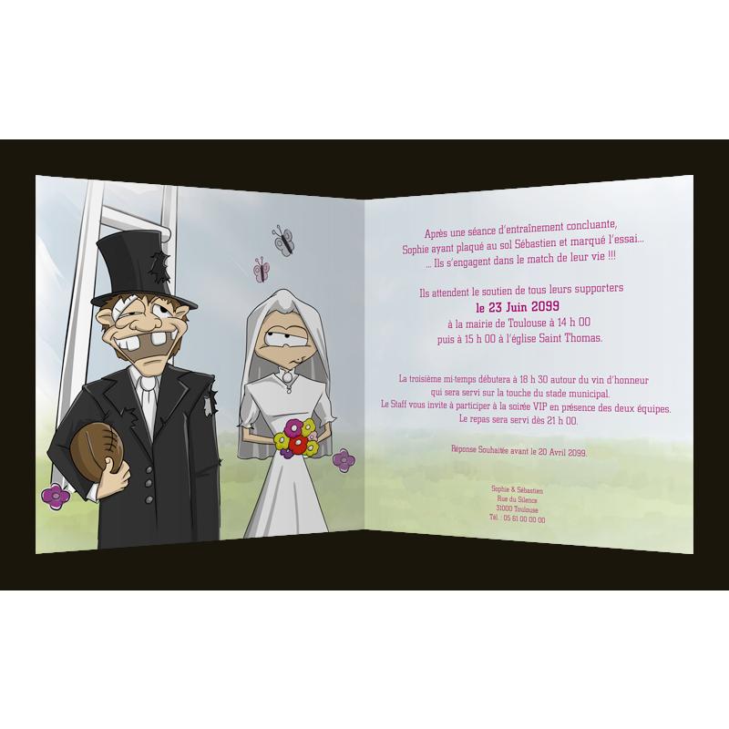 Texte humoristique faire part mariage