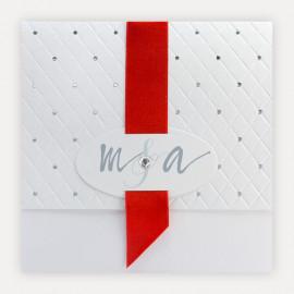 Faire part mariage theme rouge et blanc