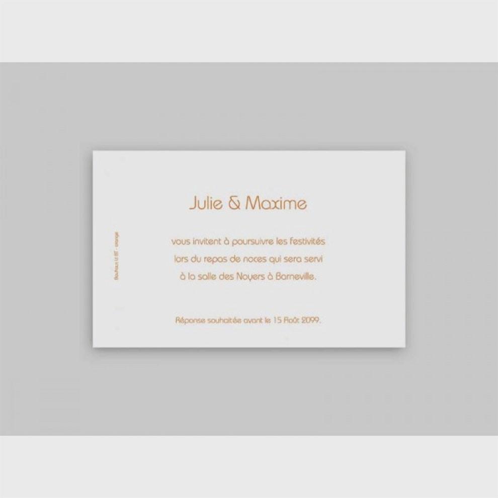 Carte invitation repas mariage