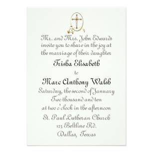Faire part mariage religieux