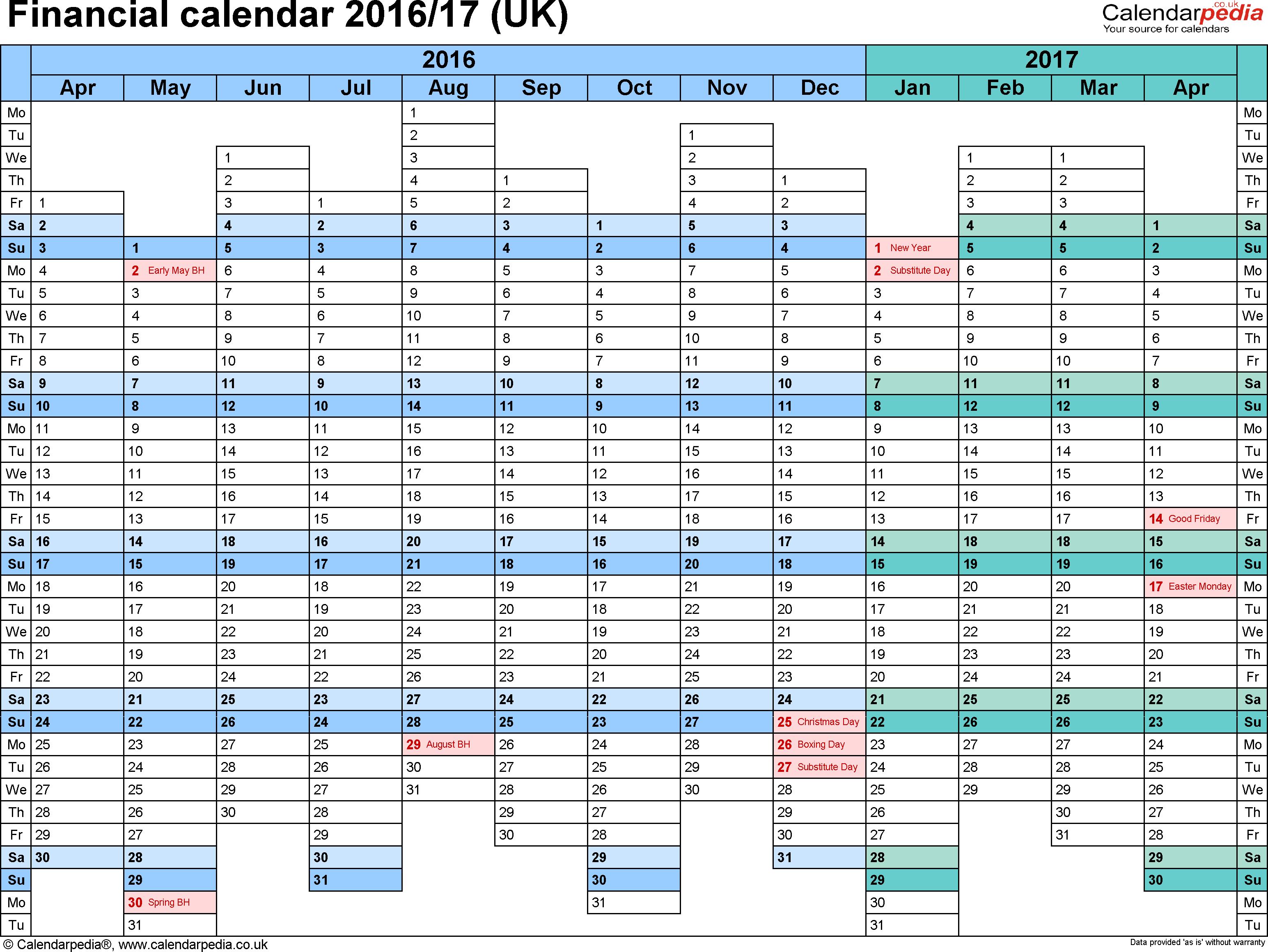 Planning excel 2016 2017