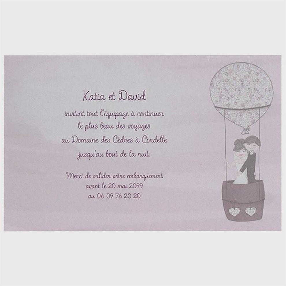 Carte invitation mariage humoristique