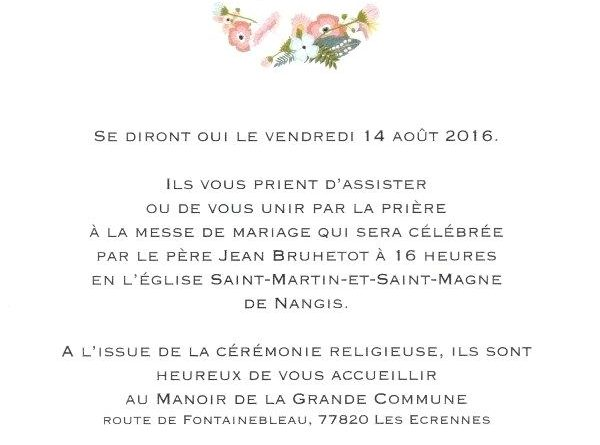 Texte Faire Part Mariage Civil Et Religieux Experience Conseil
