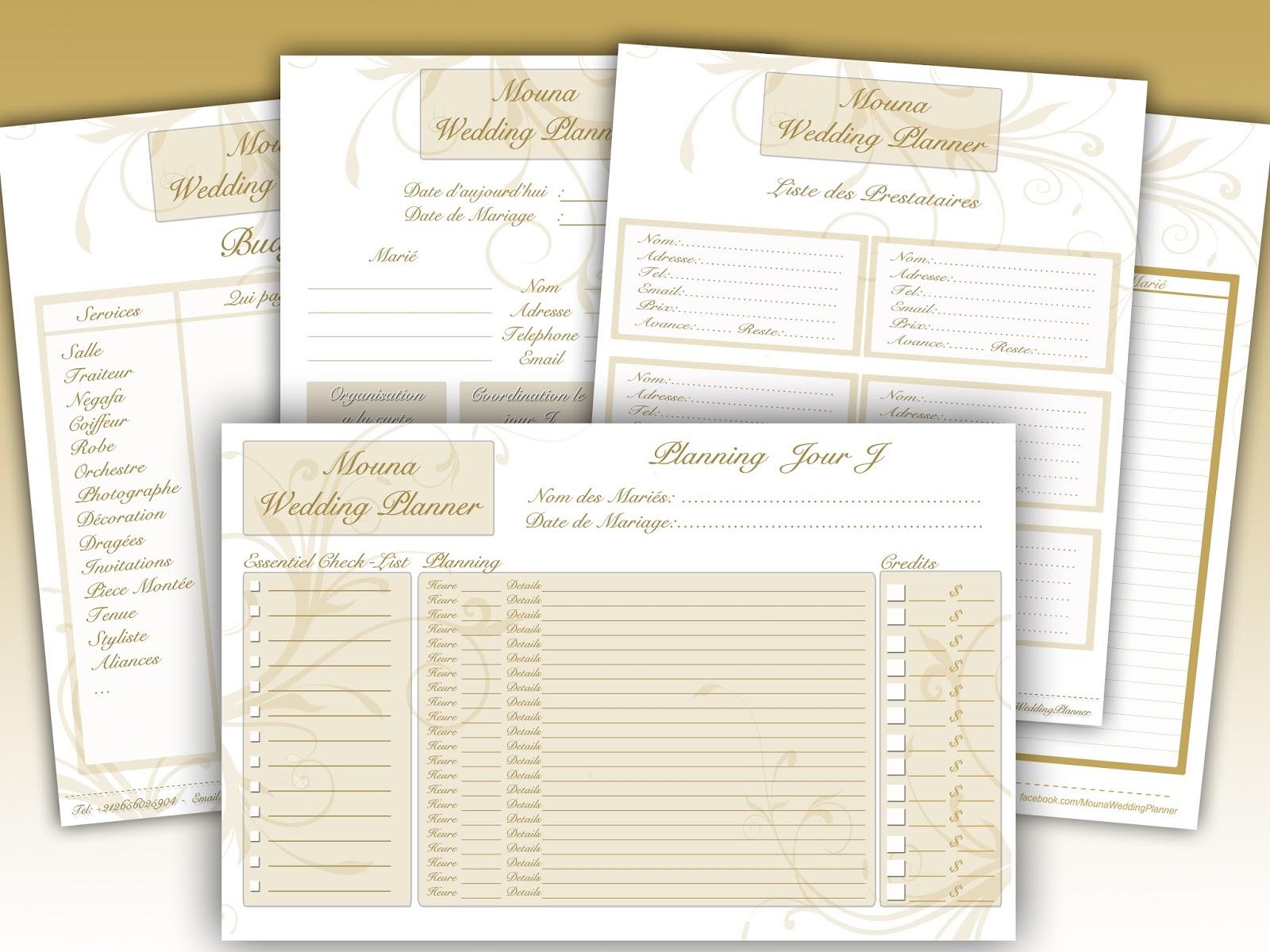 Mariage organisation liste