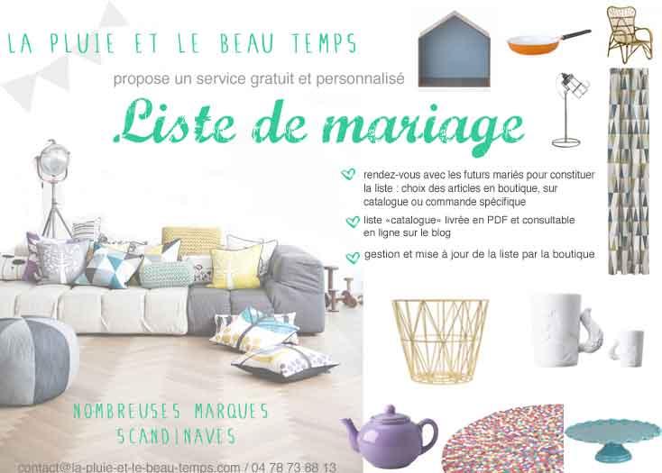 Liste mariage cadeau