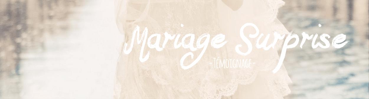 Organiser son mariage surprise