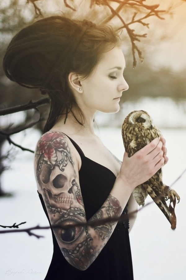 Modele photo tatouée