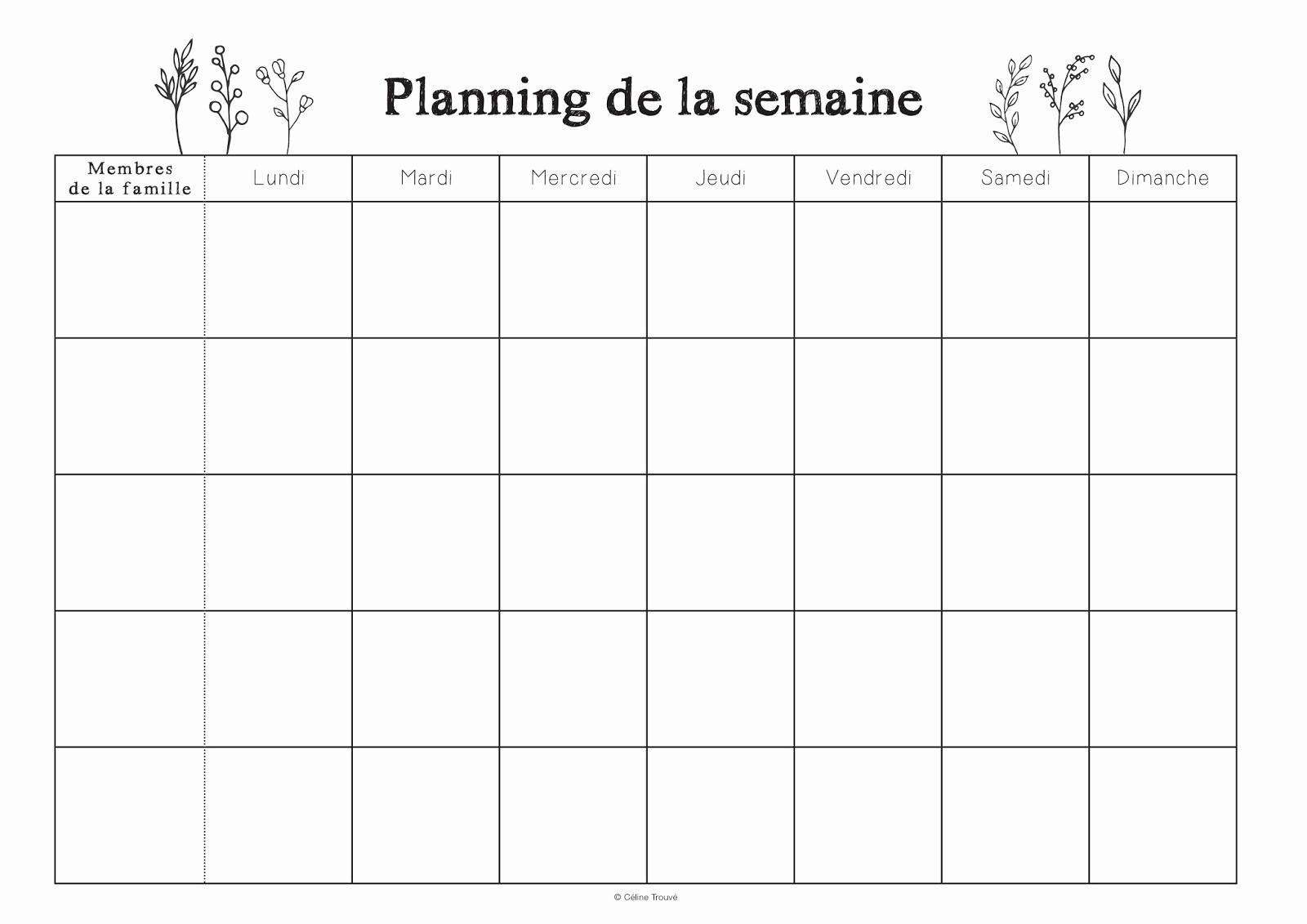 Planning de semaine