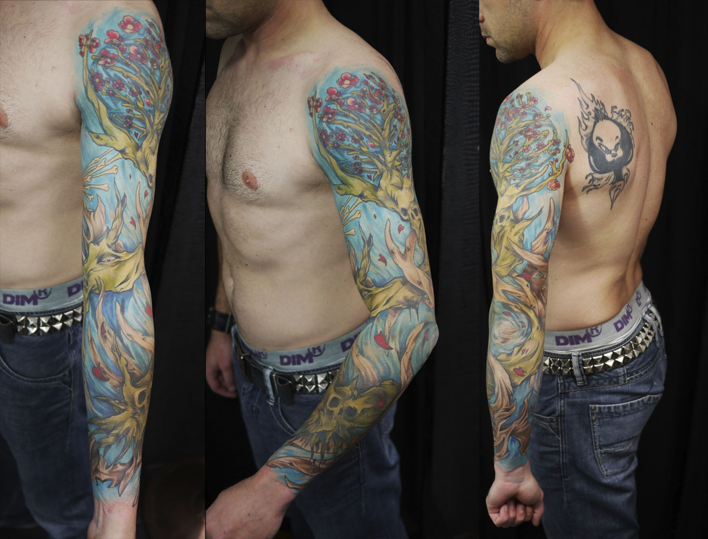 Tatouage homme couleur