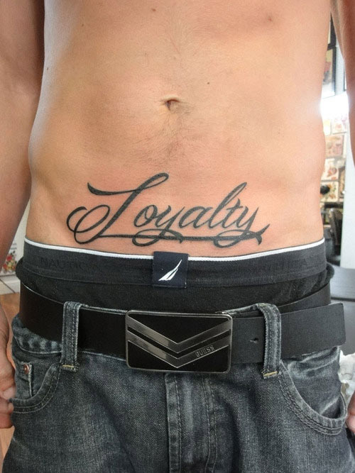 Tattoo ventre homme