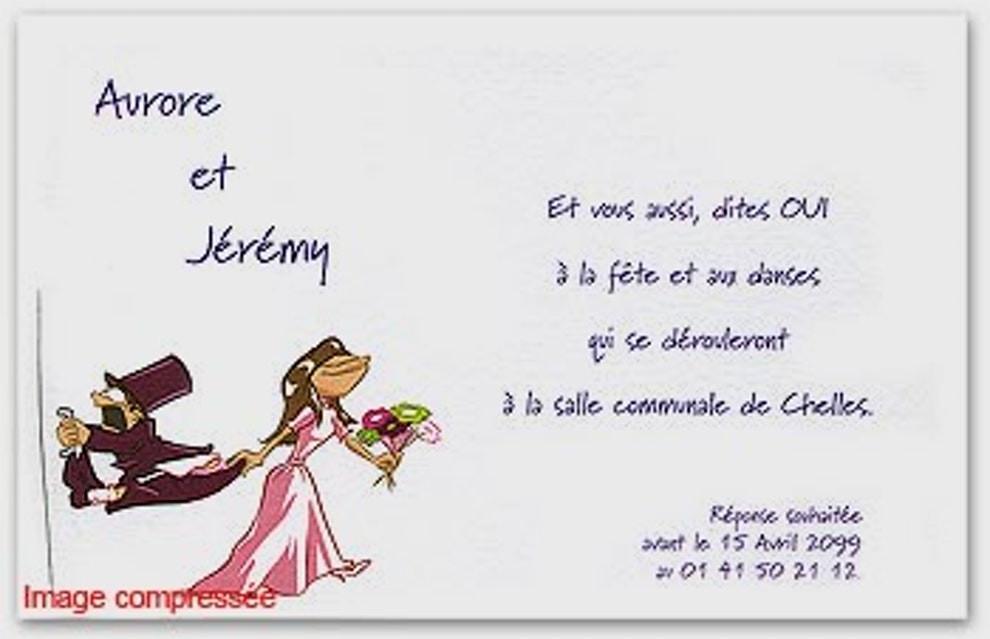 Message humoristique mariage